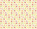 Buzzy Garden FLANNEL - Floral Cream by RBD from Alpine Fabrics