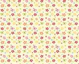 Buzzy Garden FLANNEL - Floral Cream by RBD from Alpine Fabrics