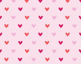 Hearts FLANNEL - Pink by Carly Griffith from Alpine Fabrics