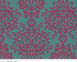 Botanique - Damask Teal by Lila Tueller Designs from Riley Blake