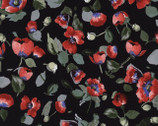 Fresh Cut - Allover Poppies Black by Michele D'Amore from Timeless Treasures