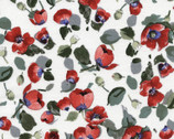 Fresh Cut - Allover Poppies White by Michele D'Amore from Timeless Treasures