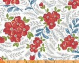 Hazel - Large Floral White by Allison Harris from Windham Fabrics