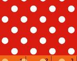Windham Basics - Brights Aspirin Dot Red from Windham Fabrics