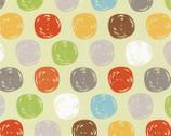 Sweet Meadow FLANNEL - Green Dots by Arrolynn Weiderohold from Wilmington Prints