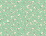 Spring Showers - Green Floral Lattice by Kaye England from Wilmington Prints