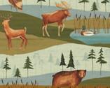 Wild Woods - Multi Animal Scenic by Daphne B from Windham Fabrics