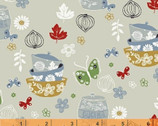 Cucina - Bowls and Jars Light Gray by Victoria Johnson from Windham Fabrics