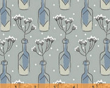 Cucina - Bottles Grey Dusty Blue by Victoria Johnson from Windham Fabrics
