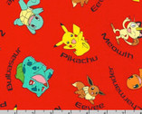 Pokemon - Characters With Names Toss Red from The Pokemon Co from Robert Kaufman