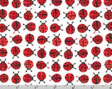 Urban Zoologie Minis - Ladybugs Red by Ann Kelle from Robert Kaufman