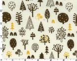 Scandinavian Forest - Nature Forest Trees Ivory from Cosmo