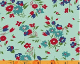 Dixie - Small Floral Aqua by Allison Harris from Windham Fabrics