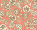 Modern Tyke - Pink Coral Paisley from Henry Glass