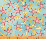 Coral Reef - Starfish Seastar Aquas Blue by Whistler Studios from Windham Fabrics