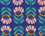 Floret - Iris Ultramarine by Leah Duncan from Cloud9 Fabrics
