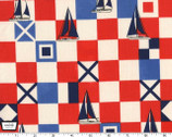 Mariner Flags - Red from Michael Miller