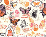Strawberry Moon - Butterfly Sketchbook Orange from Michael Miller