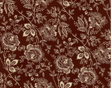 French Country - Deep Red Maroon Floral from Washington Street Studio
