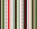 Modern Metallic Christmas - Stripe Green from Andover-Makower
