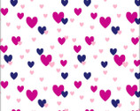 Flanneland Basics - Pink Hearts FLANNEL from David Textiles