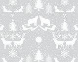 Northern Lights - Forest Animals Gray with Metallic from Lewis and Irene