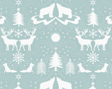 Northern Lights - Forest Animals Blue with Metallic from Lewis and Irene