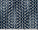 Sevenberry Kasuri - Geometric Stars Navy Blue by Sevenberry from Robert Kaufman