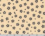 Sevenberry Kasuri - Blossoms Denim Blue Tan by Sevenberry from Robert Kaufman