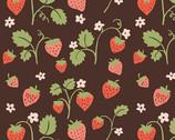 Cotton Garden - Strawberry Fields Poplin from Monaluna