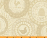 Farm to Table - Farm Patch Tan Beige by Whistler Studios from Windham Fabrics
