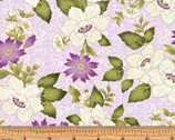 Ribbon Swirl Floral Light Lilac by Dover Hill from Benartex