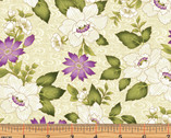 Ribbon Swirl Floral Cream by Dover Hill from Benartex