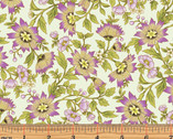 Small Ribbon Floral Mint by Dover Hill from Benartex
