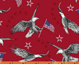 Liberty - Eagles Red by Whistler Studios from Windham Fabrics