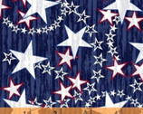 Liberty - Multi Stars Blue by Whistler Studios from Windham Fabrics