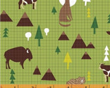 Coast To Coast - Wildlife Green by Whistler Studios from Windham Fabrics