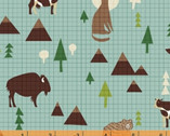 Coast To Coast - Wildlife Blue by Whistler Studios from Windham Fabrics