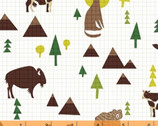 Coast To Coast - Wildlife White by Whistler Studios from Windham Fabrics