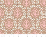 With Love - Damask Caramel by Jacqueline Savage McFee from Camelot Fabrics