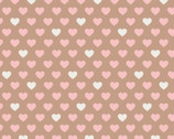 With Love - Hearts Caramel by Jacqueline Savage McFee from Camelot Fabrics