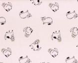 Cyururu Chocolate - Cats Pink Metallic - OXFORD from Lecien