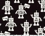 Mono Ecole - Robot Black - CANVAS from Kokka