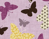 Kimono Garden - Butterflies Light Purple Lavender by Pippa Moon from Studio E