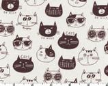 NONO Ecole - Cats Natural - CANVAS from Kokka