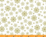 Grace - METALLIC Snowflakes Gold by Whistler Studios from Windham Fabrics