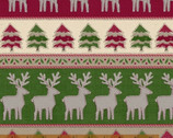 Craft Paper Christmas - Reindeer Stripe by Whistler Studios from Windham Fabrics