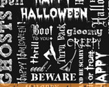 Eat Drink and Be Scary - Words Black by Whistler Studios from Windham Fabrics