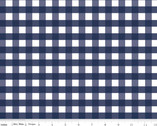 Woven Gingham 1/2 Inch - Navy from Riley Blake