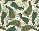Peacock Arbor - Peacocks from David Textiles